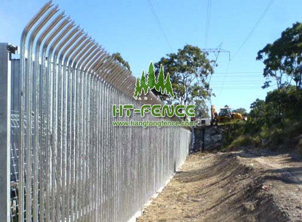 Bent Top Palisade Fence Palisade Fencing Manufacturer