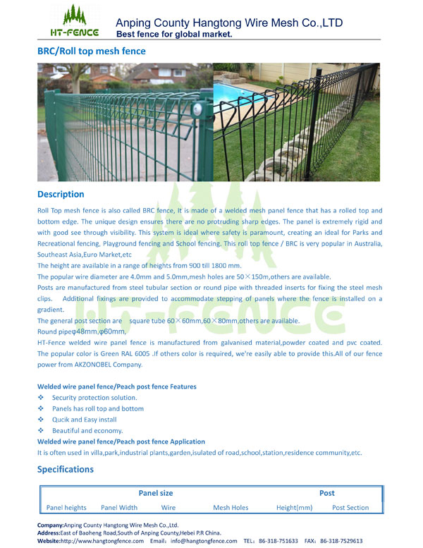 Roll Top Mesh Fence